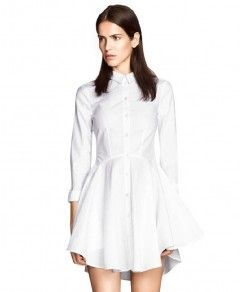 Pure Color Stand Collar Dress