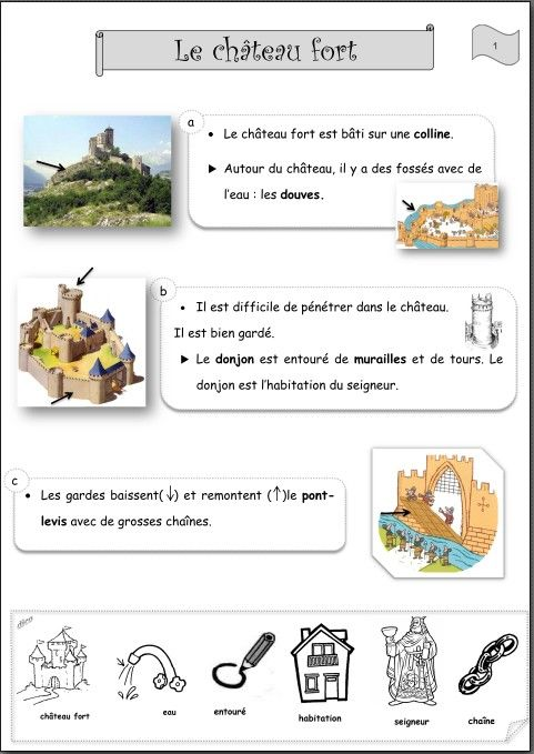 documentation sur les chateau fort