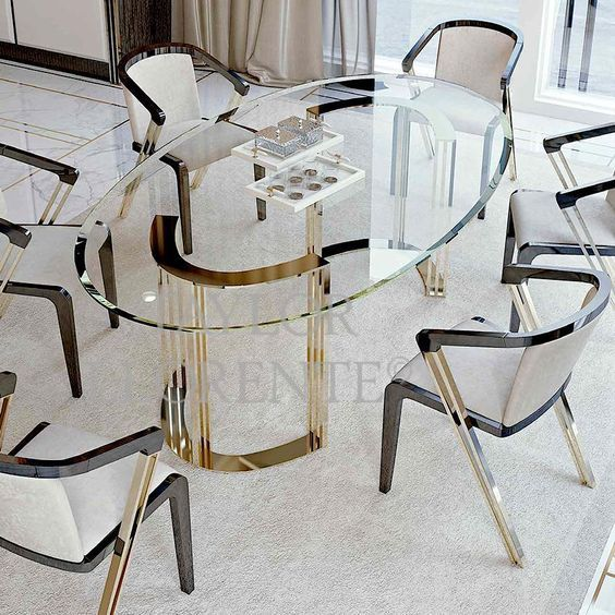 Luxury And Dreamy Dining Tables In 2021 Dining Table Gold Gold Dining Dining Table Marble