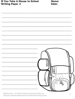 Printables If You Take A Mouse To School Worksheets free if you take a mouse to school in this printable worksheet packet will receive five writing papers go along with boo