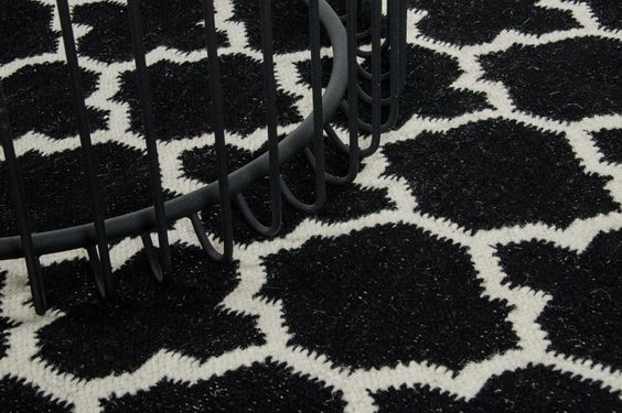 Janet Hand-Woven Black Area Rug