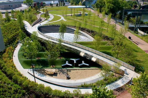Inspired By The Geology Of Tennessee This One Of A Kind Park Is A Play Experience Urban Landscape Design Landscape Design Plans Landscape Architecture Design