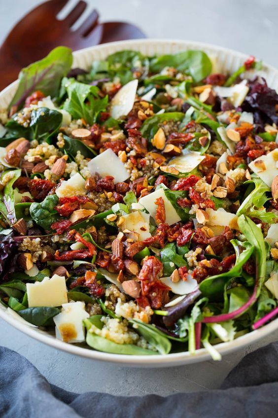Sun Dried Tomato Quinoa Salad with Balsamic Vinaigrette