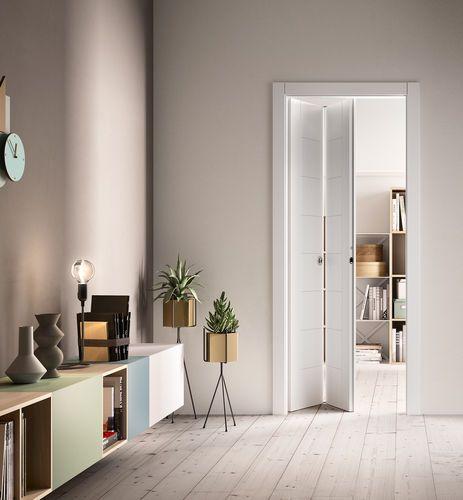 Puertas plegables sin carril abajo puerta plegable de - Puerta plegable madera ...