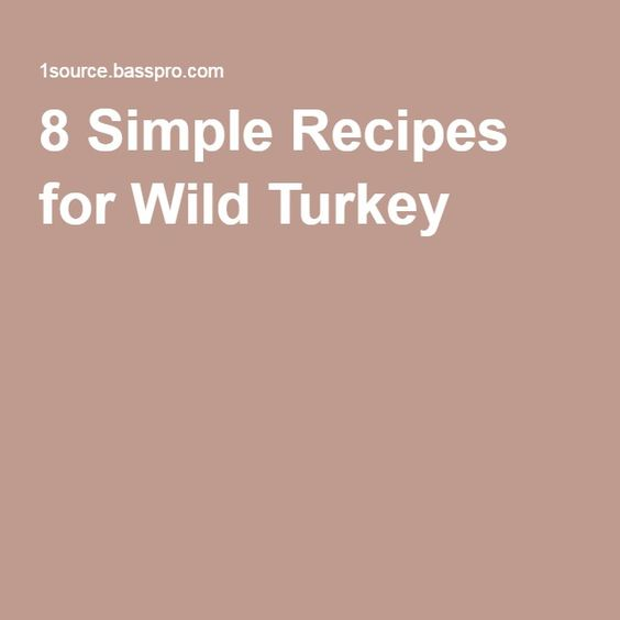 8 Simple Recipes for Wild Turkey