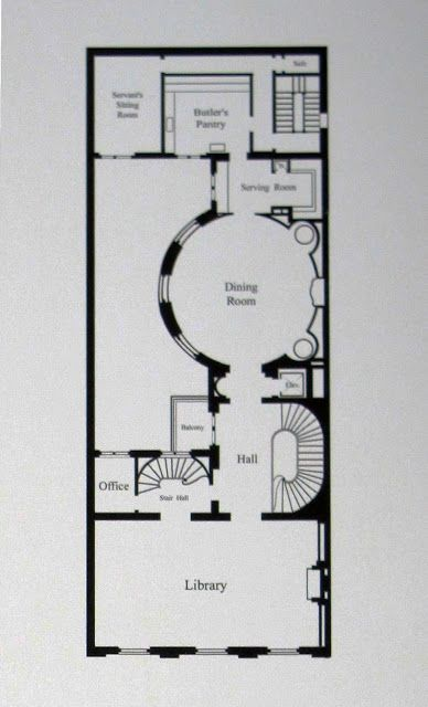 Ogden Codman's house, 7 East 96th Street | First Floor Plan | BIG OLD HOUSES