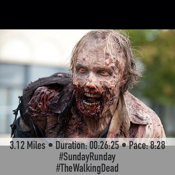 Excellent, a zombie running FitSnap pic! FitSnap is a free iPhone app that creates inspirational pictures from your workouts. Download it today from the App Store!