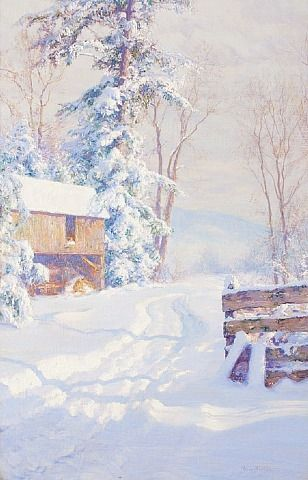 """""""Winter Morning"""" by Walter Launt Palmer"""