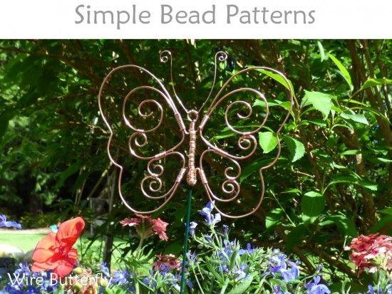 Wire Butterfly Garden Window Decoration Garden Ornaments Diy