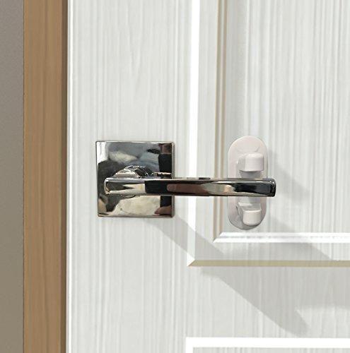 Door Lever Lock 2 Pack Child Proof Doors Handles 3m Adhesive Child Safety Door Lock Child Proofing Doors Door Handles Child Door Safety
