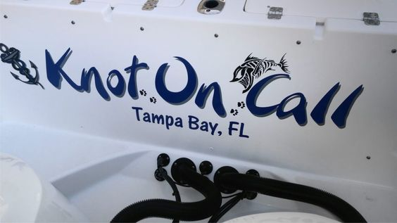 """""""Knot On Call"""" Boat Decal"""