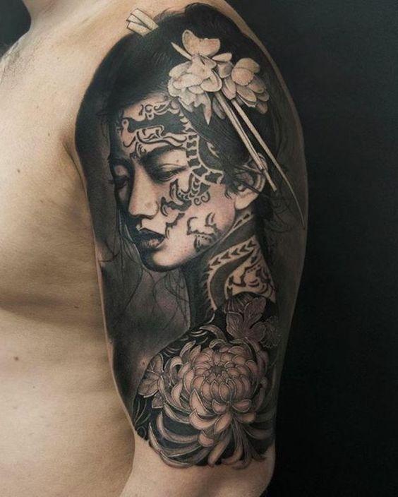 Tattoos arm asiatische Traditionelle japanische