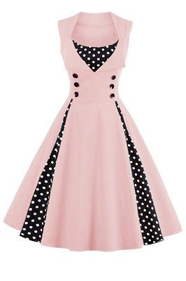 /'Rhianna/' Vintage Polka Dot Pin Up 1950/'s Rockabilly Swing Prom Dress
