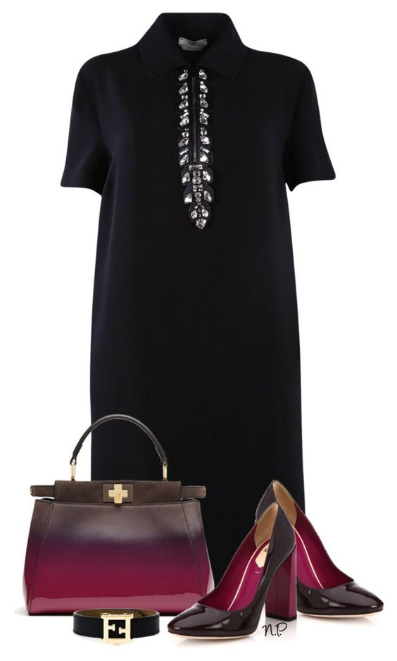 Fendi Shirt Dress by nuria-pellisa-salvado on Polyvore featuring moda and Fendi