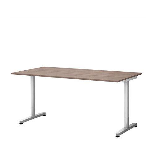 Eckschreibtisch ikea galant  GALANT Schreibtisch - grau, T-Bein, silberfarben - IKEA ...