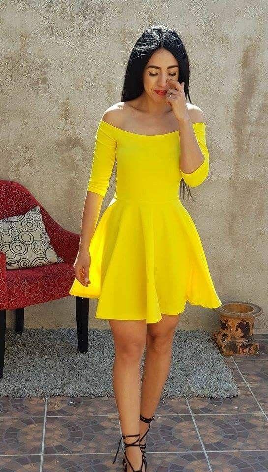 Pin De 𝓐𝓾𝓻𝓪 En Yellow En 2019 Vestidos Coctel