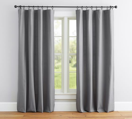 Broadway Pole Pocket Curtain Set Of 2 White Home Curtains
