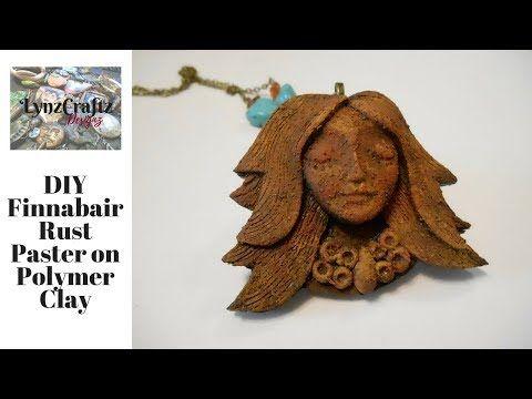 Diy Finnabair Rust Paste On Polymer Clay Youtube Polymer Clay Mixed Media Diy Finnabair