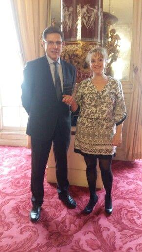 Monsieur Philippe Dallier sénateur de Seine Saint Denis et moi chef d'entreprise les délices de sonia
