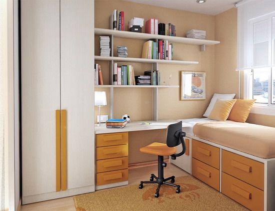 Cool Small Bedroom Learning Desk   interior design   Pinterest ...