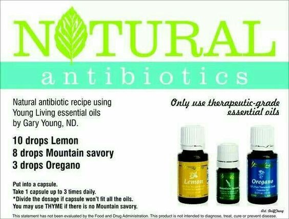 Natural antibiotics blend with essential oils