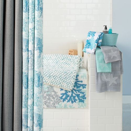 Sonoma Goods For Life Seaside Shower Curtain Collection Printed