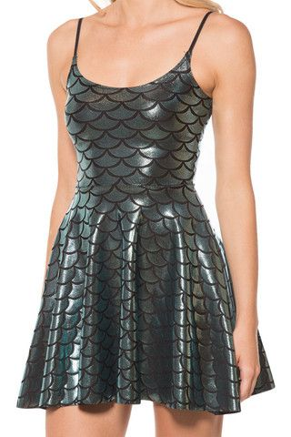 Mermaid Straps Skater Dress - LIMITED