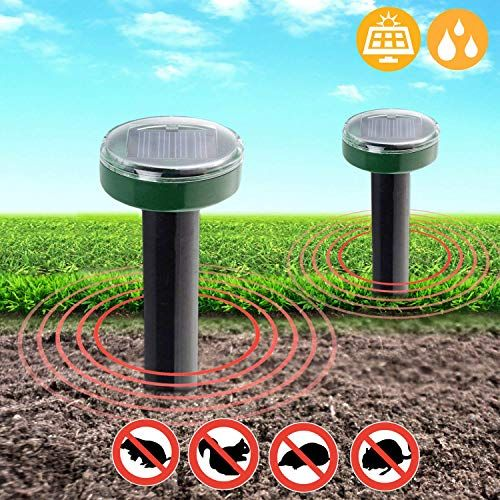 Mole Repeller Solar Powered 2 Pack Ultrasonic Gopher Repellent Chaser Of Moles Voles In 2020 Pest Control Pests Pest Control Supplies