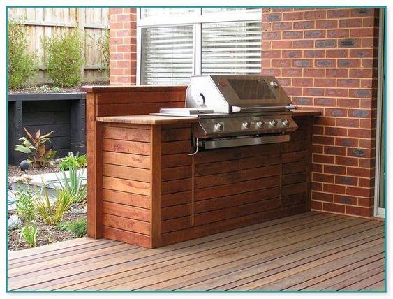 Built In Bbq On Deck Built In Bbq Outdoor Bbq Area Outdoor Grill