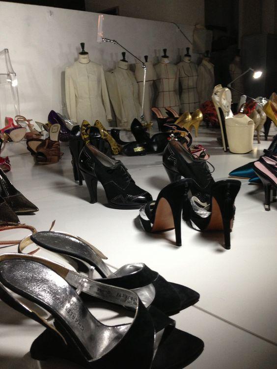 Laurent Mercier expose sa collection de chaussures et ses créations