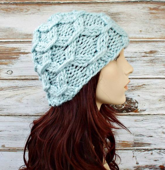 Instant Download Knitting Pattern Knit Hat Knitting por pixiebell