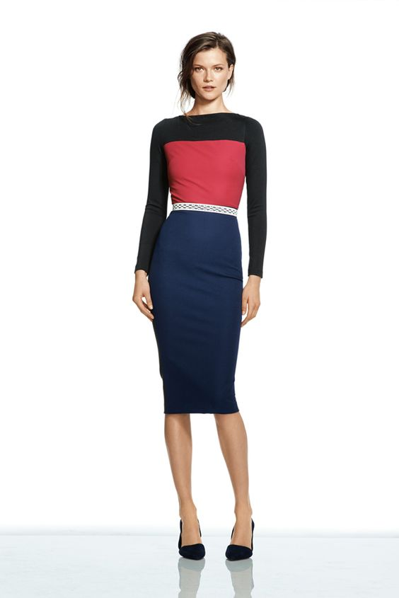 Sloan colorblock dress