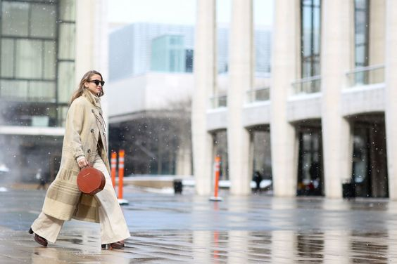 Below-Freezing NYC Street Style That's Still Fire #refinery29  http://www.refinery29.com/2015/02/82279/new-york-fashion-week-2015-street-style-pictures#slide-5  Annie Georgia Greenberg makes her way across the plaza.