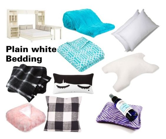 """""""Bed"""" by kkfeher ❤ liked on Polyvore featuring interior, interiors, interior design, home, home decor, interior decorating, PBteen, LISKA, CB2 and ExceptionalSheets"""