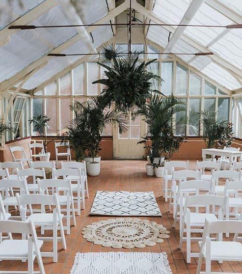 Boho Wedding Ceremony In 2020 Palm Trees Wedding Wedding Tree Decorations Tree Wedding Ceremony