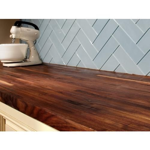 American Walnut Butcher Block Countertop 12ft Floor Decor Walnut Butcher Block Countertops Wood Countertops Walnut Butcher Block