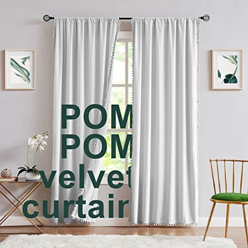 Tassel Curtains Blackout Curtains Curtains Living Room Boho Kitchen Curtains