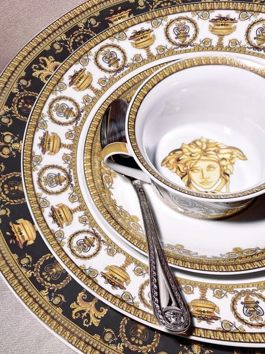 Medusa Gala Coffee Cup Saucer Home Collection Us Online Store Luxury Tableware Versace Home Rosenthal Versace
