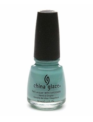 The Tiffany box of of nail color.   CHINA GLAZE NAIL POLISH IN AUDREY, $7, CHINAGLAZE.COM.
