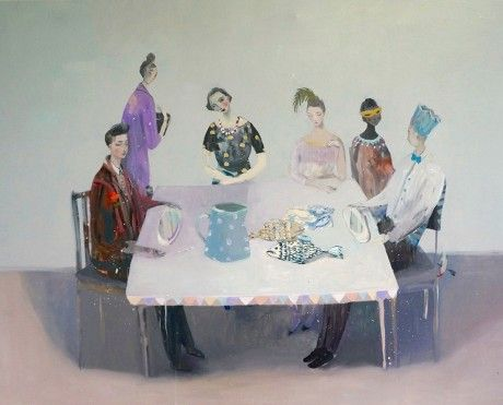 """Kristin Vestgard, """"Whenever you Need Us"""", oil 80 x 100cm, £4100. Available from:http://www.cornwallcontemporary.com/exhibition/kristin-vestgard/"""