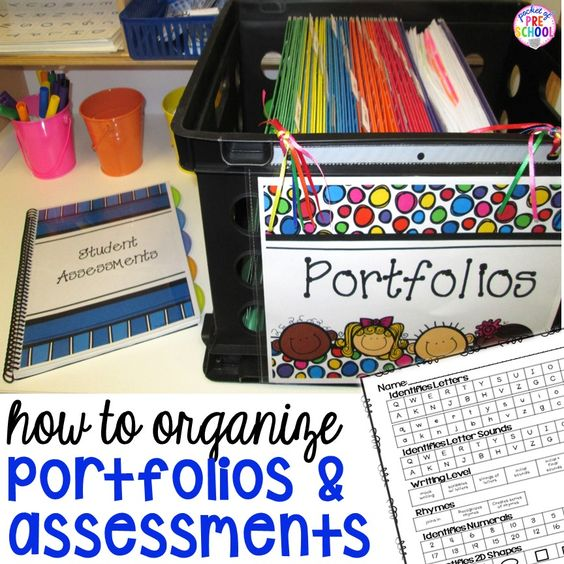 How to organize your student portfolios and assessments to make your teacher life easier. I can't wait to try these ideas in my preschool classroom.