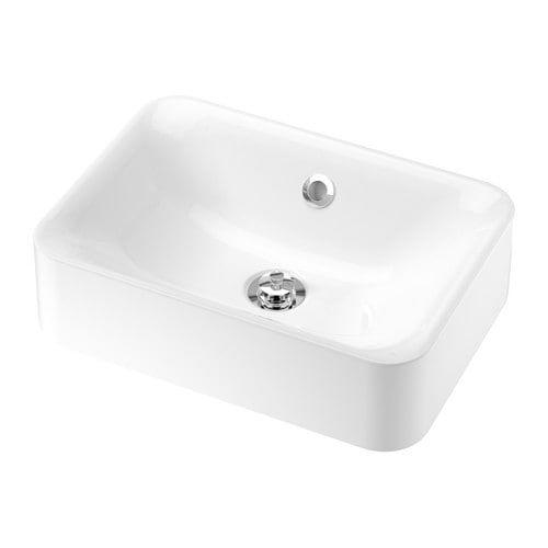Horvik Vasque Blanc 45x32 Cm Petit Lavabo Lavabo A Poser Plan De Travail