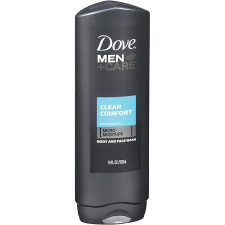 Dove Men Care Clean Comfort Body and Face Wash, 18 fl oz