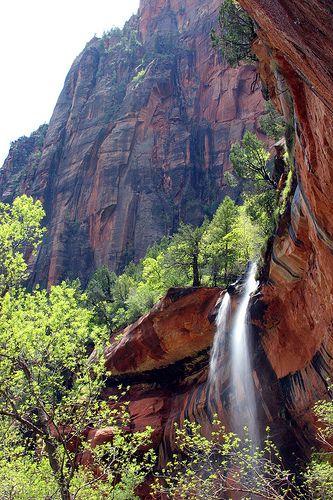 Emerald Falls in Zion, Utah