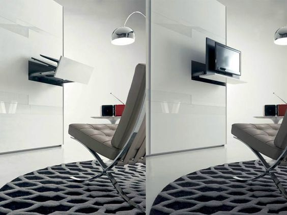 SWIVEL RETRACTABLE TV CABINET GHOST | FIMAR