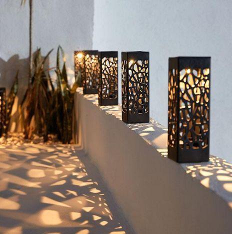 Solar Powered Vintage Garden Light Luminaires Jardin Eclairage Exterieur Jardin Decoration Jardin Maison