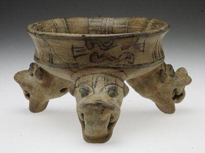 Tripod Serpent Bowl                         Artist Unknown (Nicoya-Guancaste)       (Costa Rica, Central America), 11th-16th century