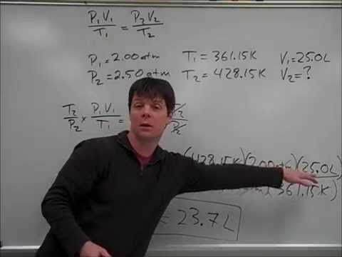 How To Solve A Problem Using The Combined Gas Law Mr Pauller Solving Mr Chemistry