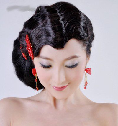 Classic Chinese hair: Hairstyles Trend, Chinese Hairstyles, Blackweddinghairstyles Chinese, Unique Wedding, Black Wedding Hairstyles, Trends Hairstyles, Hair Style, 2011 Hairstyle