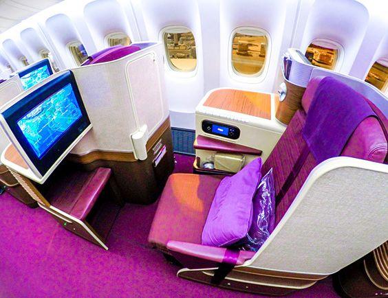 Thai Airways Royal Silk Business Class B777-300ER ...